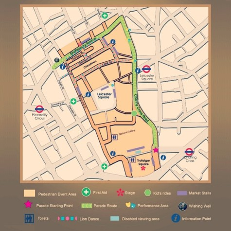 chinnese new year map london 2014