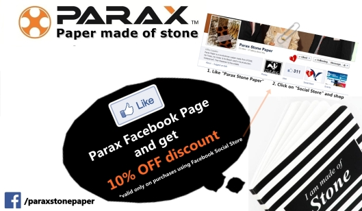 10% discount on purchases using Parax Social Store on Facebook!