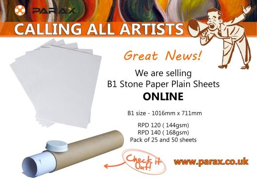 b1 parax stone paper plain sheets online poster for social media