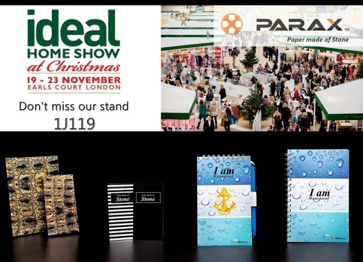 ideal home show poster parax stone paper