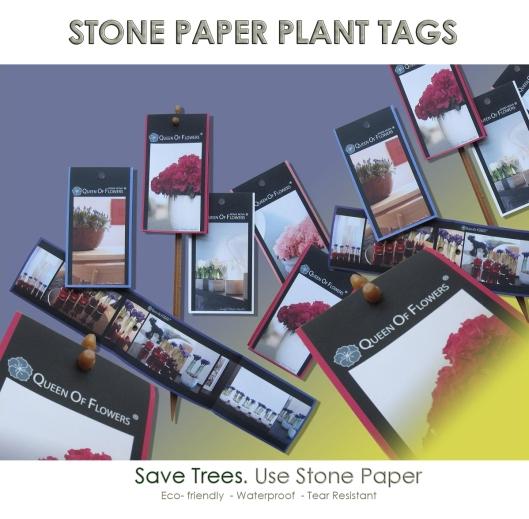 Plant Tag Stone Paper