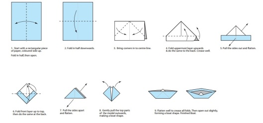 origami stone paper waterproof boat